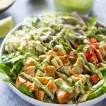 Chopped Chicken Salad with Creamy Avocado Dressing | Gimme Delicious