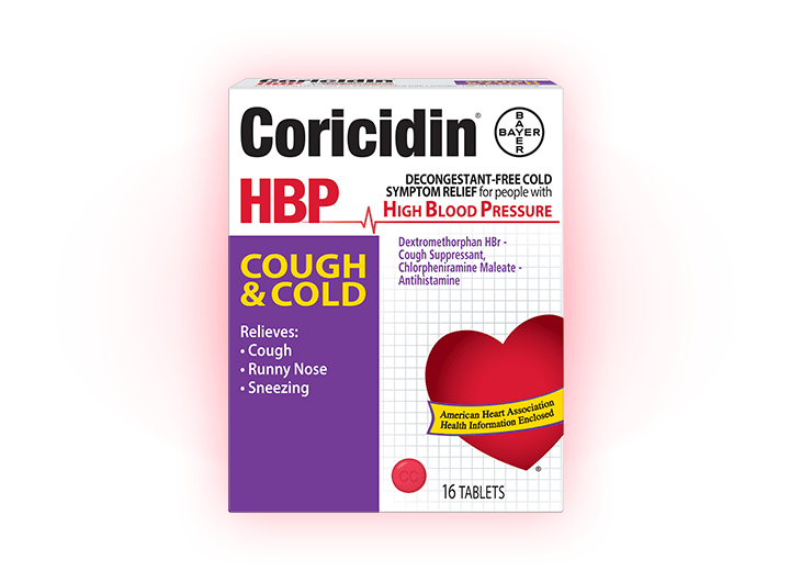 Cold Relief for People with High Blood Pressure | Coricidin® HBP