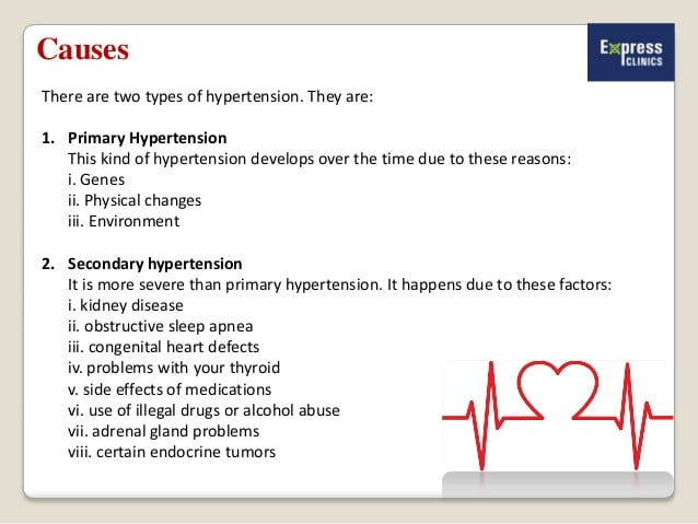 Hypertension - Causes Symptoms Diagnosis and Treatment