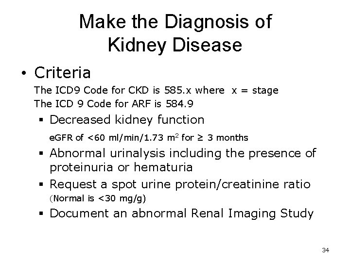 ICD 10 and Nephrology How to find ARF
