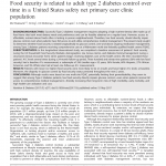 PDF) Food security is related to adult type 2 diabetes control over time in  a United States safety net primary care clinic population