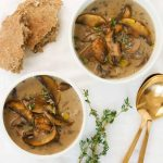 HEALTHY MUSHROOM SOUP (NO CREAM) - The clever meal