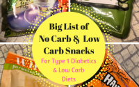 No Carb & Low Carb Snacks for Type 1 Diabetic Kids or Adults or Low Carb  Eaters