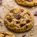 Chewy Oatmeal Chocolate Chip Cookies - Baker by Nature