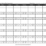 Food and Blood Glucose Tracker [Printable]