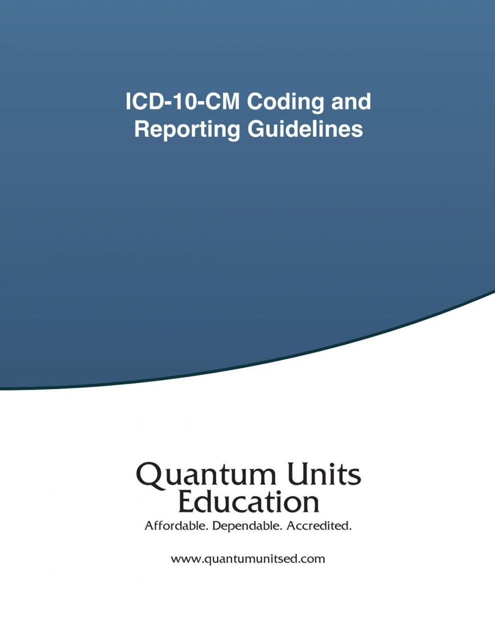 ICD-10-CM Coding and Reporting Guidelines by Quantum Units Continuing  Education - issuu