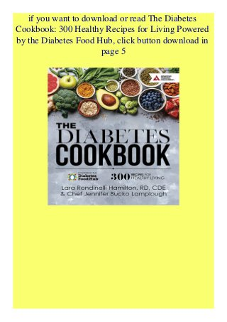PDF] The Diabetes Cookbook 300 Healthy Recipes for Living Powered by…
