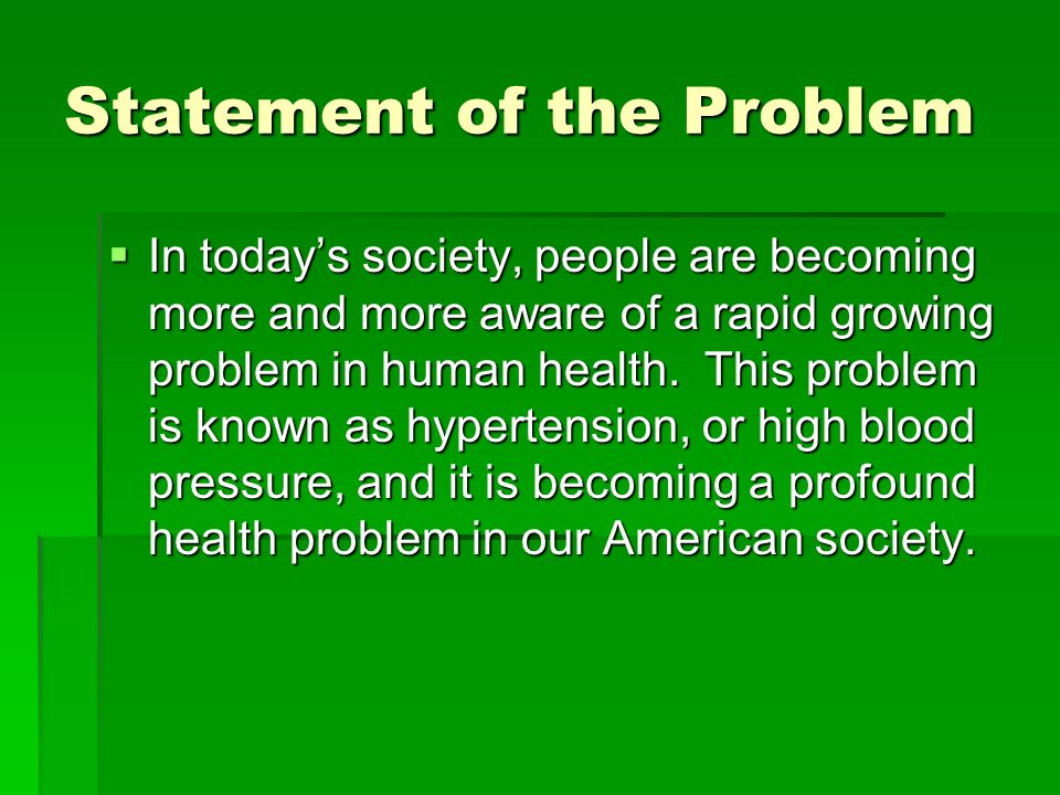 My Research Prospectus Hypertension: A Rising Problem in Today's Society. -  ppt download