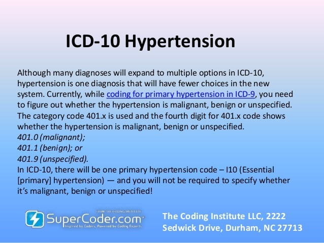Take the Stress Out of 'Hypertension Coding' in ICD-10