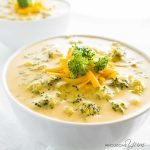 Easy Broccoli Cheese Soup Recipe - 5 Ingredients   Wholesome Yum