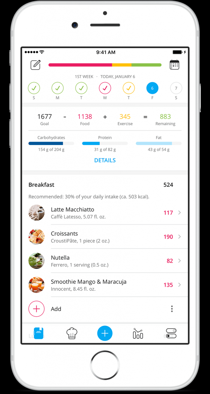 Daily Food Diary App: Free for Android & iPhone - YAZIO