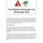 The Diabetic Exchange List - The Diabetic Exchange List*The Exchange Lists  are the basis of a meal planning system designed by a committee of the |  Course Hero