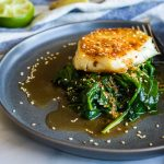 Chilean Sea Bass with Potatoes & Herb Sauce - Foxes Love Lemons