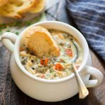 Creamy Chicken and Wild Rice Soup   Slow Cooker or Instant Pot Recipe