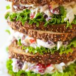 Healthy Chicken Salad with Grapes, Apples and Tarragon-Yogurt Dressing -  Two Healthy Kitchens