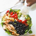 South West Chicken Salad & Ranch Dressing (Low fat) - Immaculate Bites