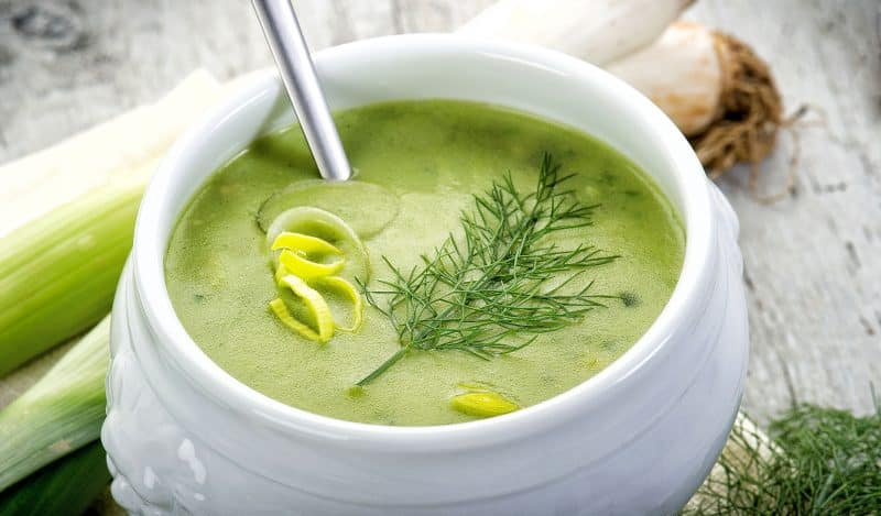 Low Fat Leek and Potato Soup Recipe   Art of the Home