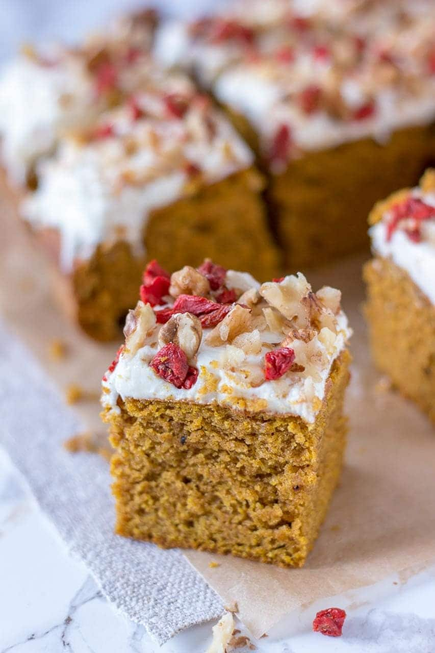 Pumpkin Bars with Cream Cheese Frosting - Julie's Eats & Treats ®