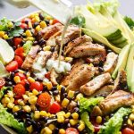 Southwestern Chicken Salad With A Low Fat Creamy Dressing - Cafe Delites