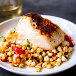 Baked Chilean Sea Bass with Fresh Corn Salad - Sizzlefish