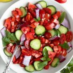Balsamic Tomato Salad with Cucumber and Onion - Peas And Crayons