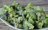 Super Low Calorie Honey Mustard Broccoli Slaw with Weight Watchers Points |  Skinny Kitchen