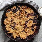 Healthy Blueberry Cobbler (gluten free) - Fit Foodie Finds