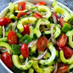 Cucumber Tomato Salad - Dinner at the Zoo