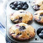 Healthy Blueberry Muffins - Dinner at the Zoo