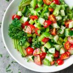 Easy Cucumber and Tomato Salad - low cal, low carb side dish