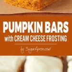 Pumpkin Bars with Cream Cheese Frosting {Vegan} - Shuangy's Kitchen
