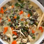Chicken Wild Rice Soup (serves 6!) - Fit Foodie Finds